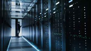 Information technology equipment asset finance - IT Technician Turning on Data Server.